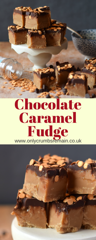 Find out how to make this decadent Chocolate Caramel Fudge.  It is made to a traditional fudge recipe by boiling the butter, cream and sugars on the hob.
