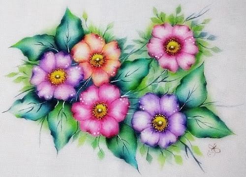 pintura-em-tecido-flores