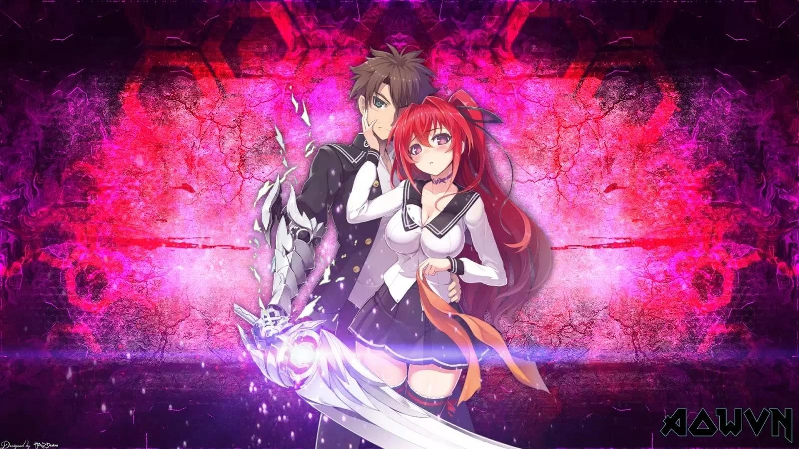 AowVN%2B%25281%2529 - [ Anime 3gp Mp4 ] Shinmai Maou no Testament BD SS1 + SS2 + OVA | Vietsub Ecchi Harem 17+