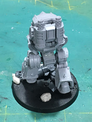 Dark Angels Legion Contemptor Dreadnought WIP