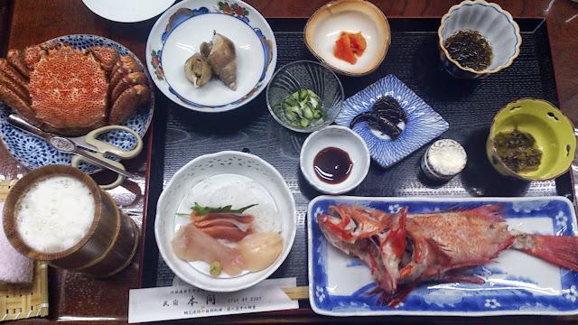 民宿本間の夕食