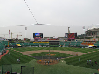 Home to center, Munhak Stadium