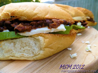Crusty Black Bean-Chorizo Subs