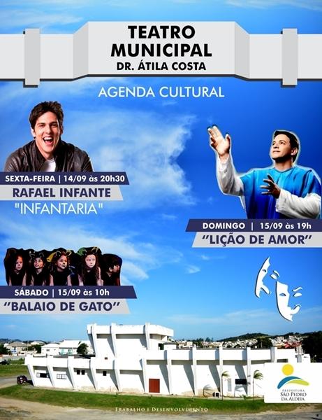 São Pedro da Aldeia terá peças no Teatro Municipal com ingressos a partir de 20 reais neste fim de semana