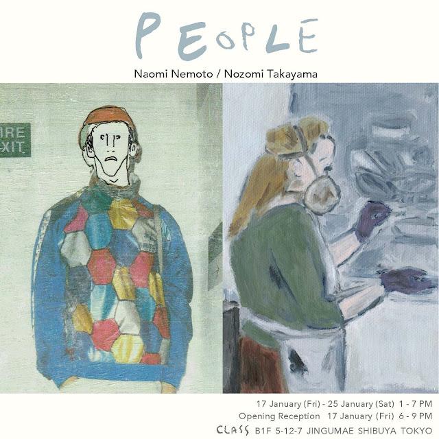 """""""PEOPLE""""  Exhibition of Naomi Nemoto and Nozomi Takayama at CLASS"""