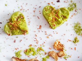 Coeurs glacés végan au thé vert Matcha - Les Jardins de Gaia