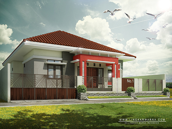 Desain rumah minimalis ukuran 13x17 meter 4 kamar tidur 1 lantai