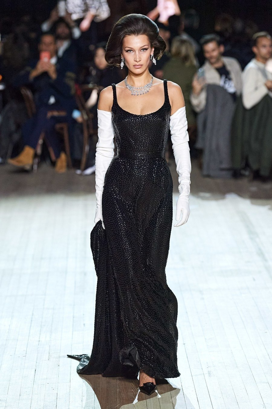 Bella Hadid channels inner princess on Marc Jacobs catwalk at New York Fashion Week