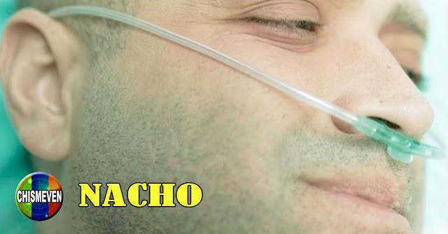 Nacho conectado a una máquina de oxígeno