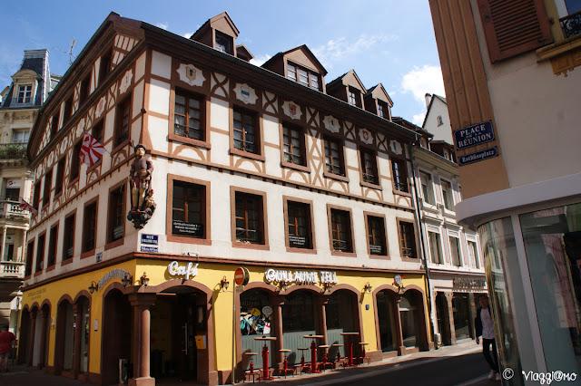 Una delle maison a colombage di Mulhouse