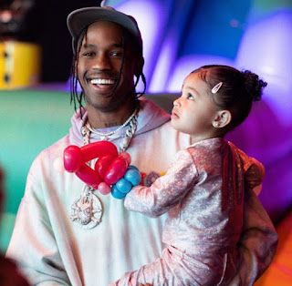 Travis Scott with daughter Stormi Webster