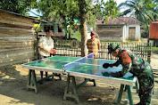 Babinsa Koramil 420-03/Pauh Olahraga Bersama Dengan Pemuda Di Desa Binaan