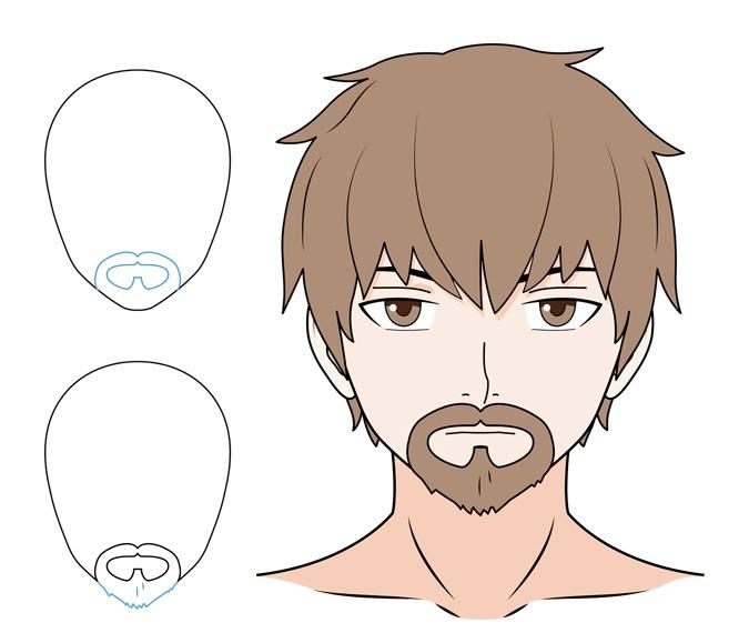 Contoh jenggot dan kumis anime
