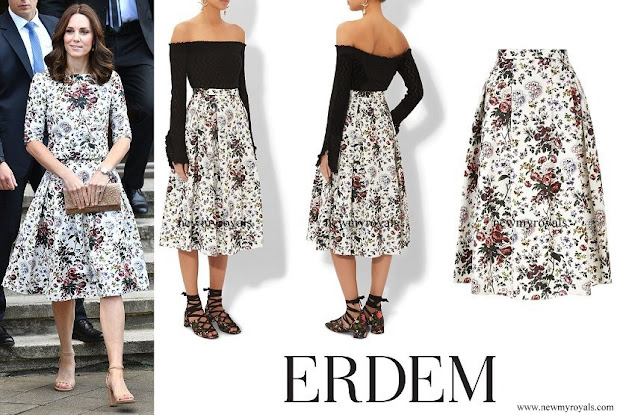 Kate Middleton wore Erdem Imari skirt and top