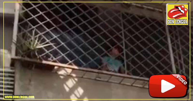 Un Niño se encargó de darle fuerzas a parte de la movilización de Las Mercedes