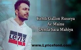 Khafa Mahiya Lyrics- Tony Kakkar (Translation)