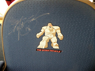 seat with NASCAR signatures
