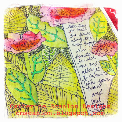 Art Journal page by Catherine Scanlon cmscanlon.blogspot.com