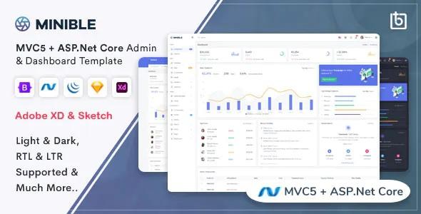 Best ASP.Net Core & MVC5 Admin Dashboard Template