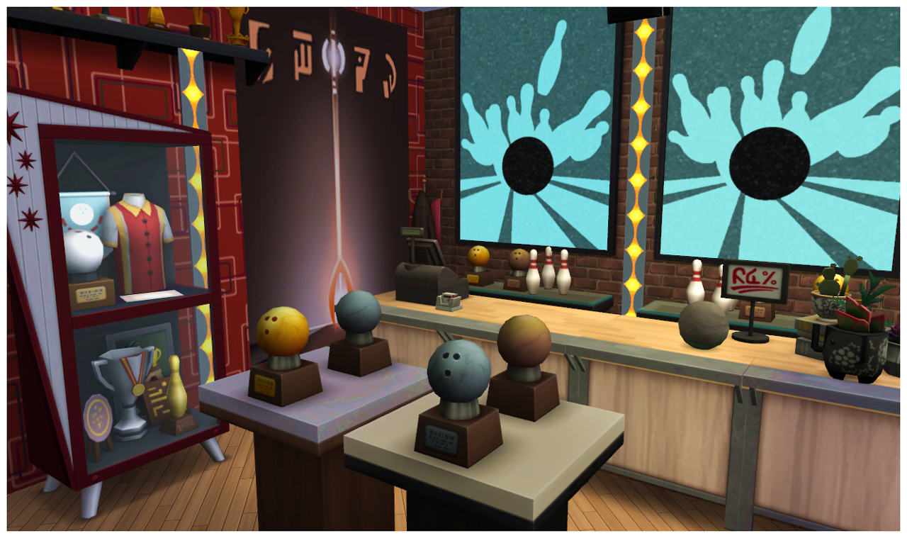 sims 4 cc u0027s the best howell lanes bowling alley a bowling night