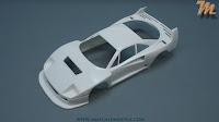 Ferrari F40 LM, 1/24 Fujimi, kit nr. 126456 - inbox review