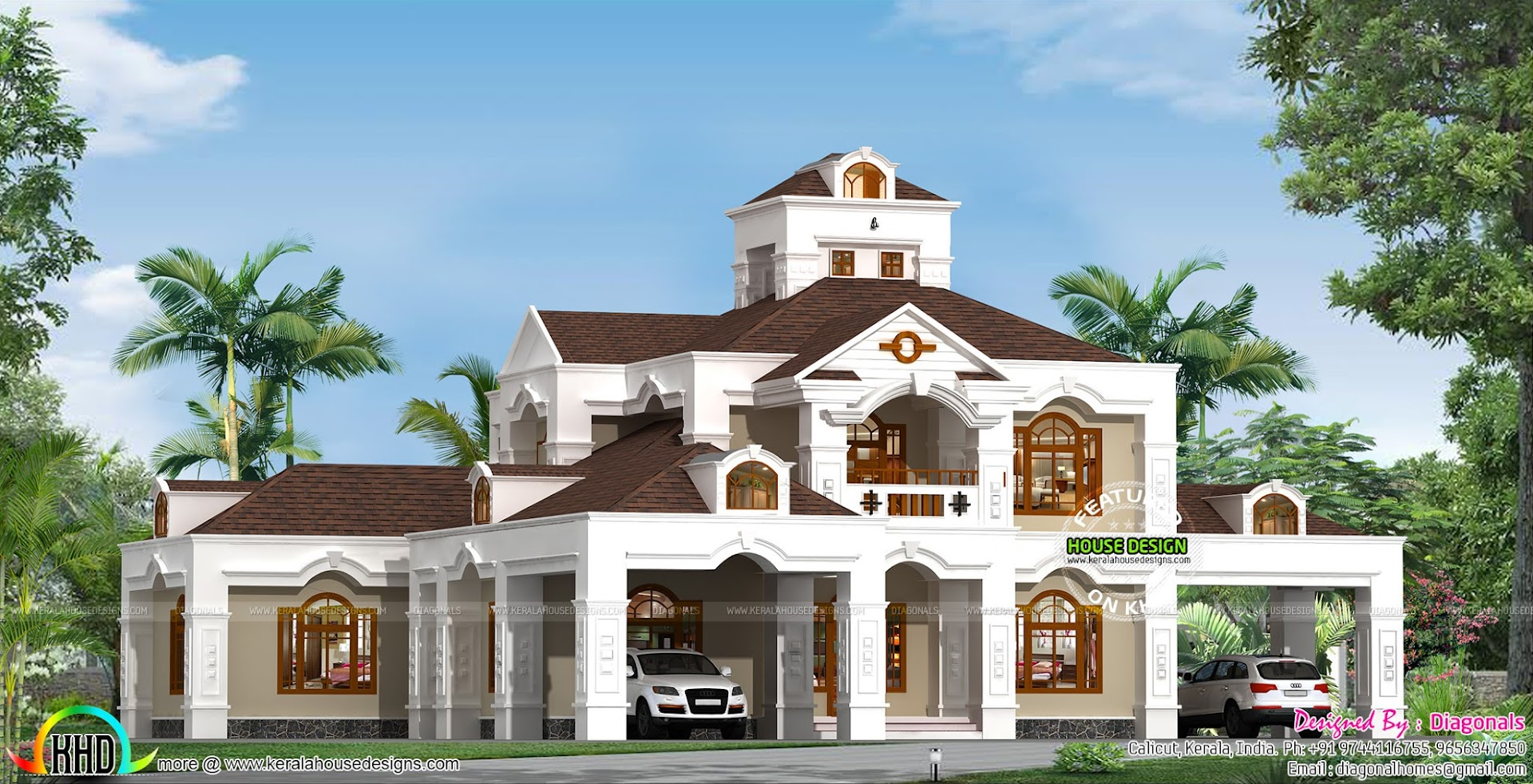 5 bedroom 5000 sq ft colonial home kerala home design for 5000 sq ft house plans in india