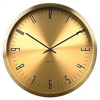 Horloge ronde acier doré karlsson cased