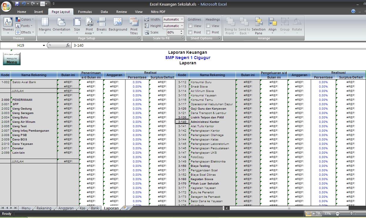 Contoh Laporan Keuangan Yayasan Pendidikan Excel Kumpulan Contoh Laporan
