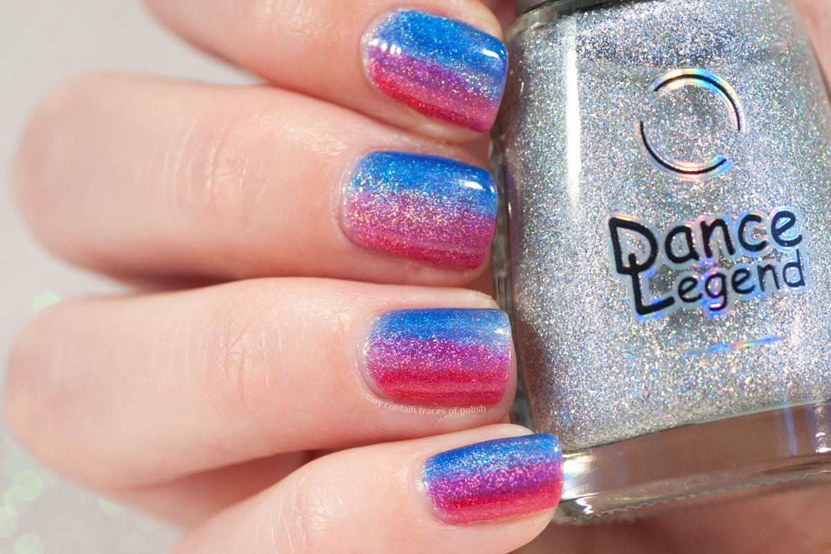 Holo Gradient Nail Art with Dance Legend Wow Prism Steel Panther