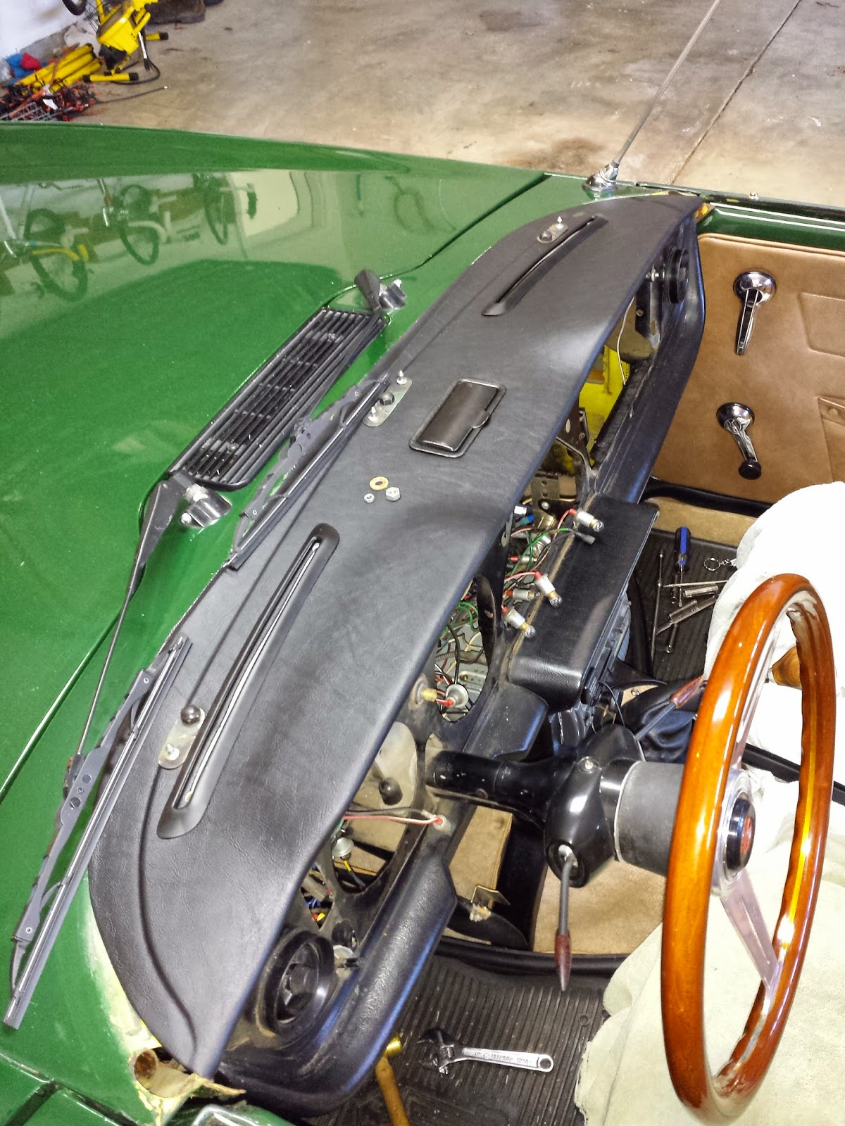 Car Windshield Replacement >> Coventrys Finest: TR6 Dash Refinish and Dash Pad ...
