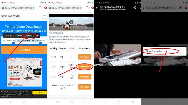 cara mendownload video di twitter tanpa aplikasi