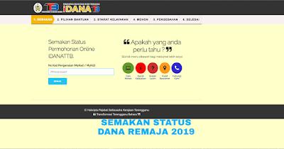 Kemaskini dan Semakan Dana Remaja Terengganu 2019