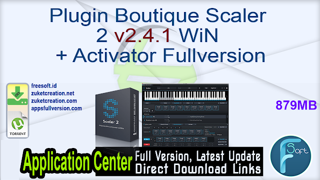 Plugin Boutique Scaler 2 v2.4.1 WiN + Activator Fullversion