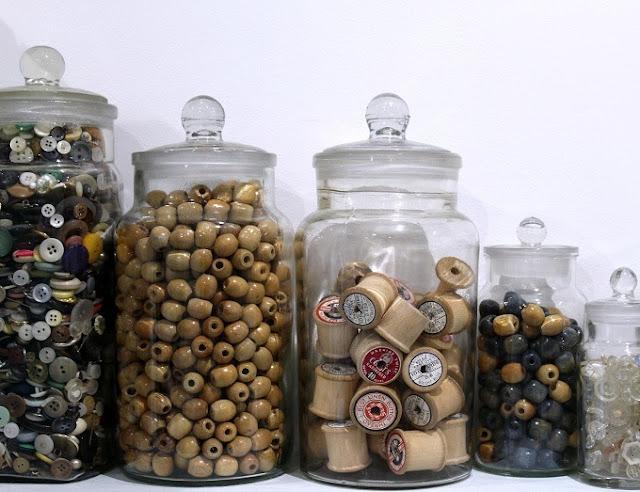 wooden beads a crochet plant pot holder