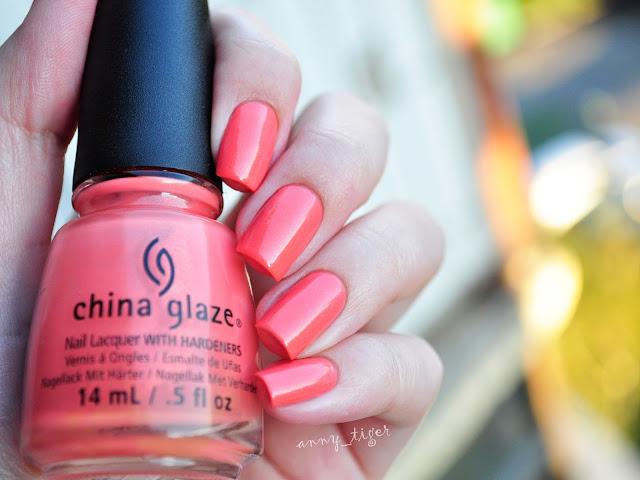 China Glaze Mimosa's before mani's