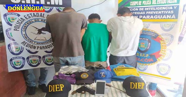 Detenidos ladrones de teléfonos celulares en Punto Fijo