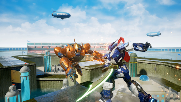 Override 2: Super Mech League battle snapshot