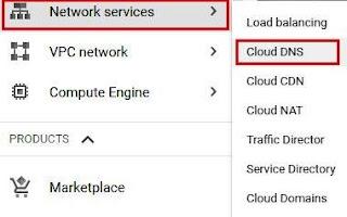 Cloud DNS, google search console, IP address