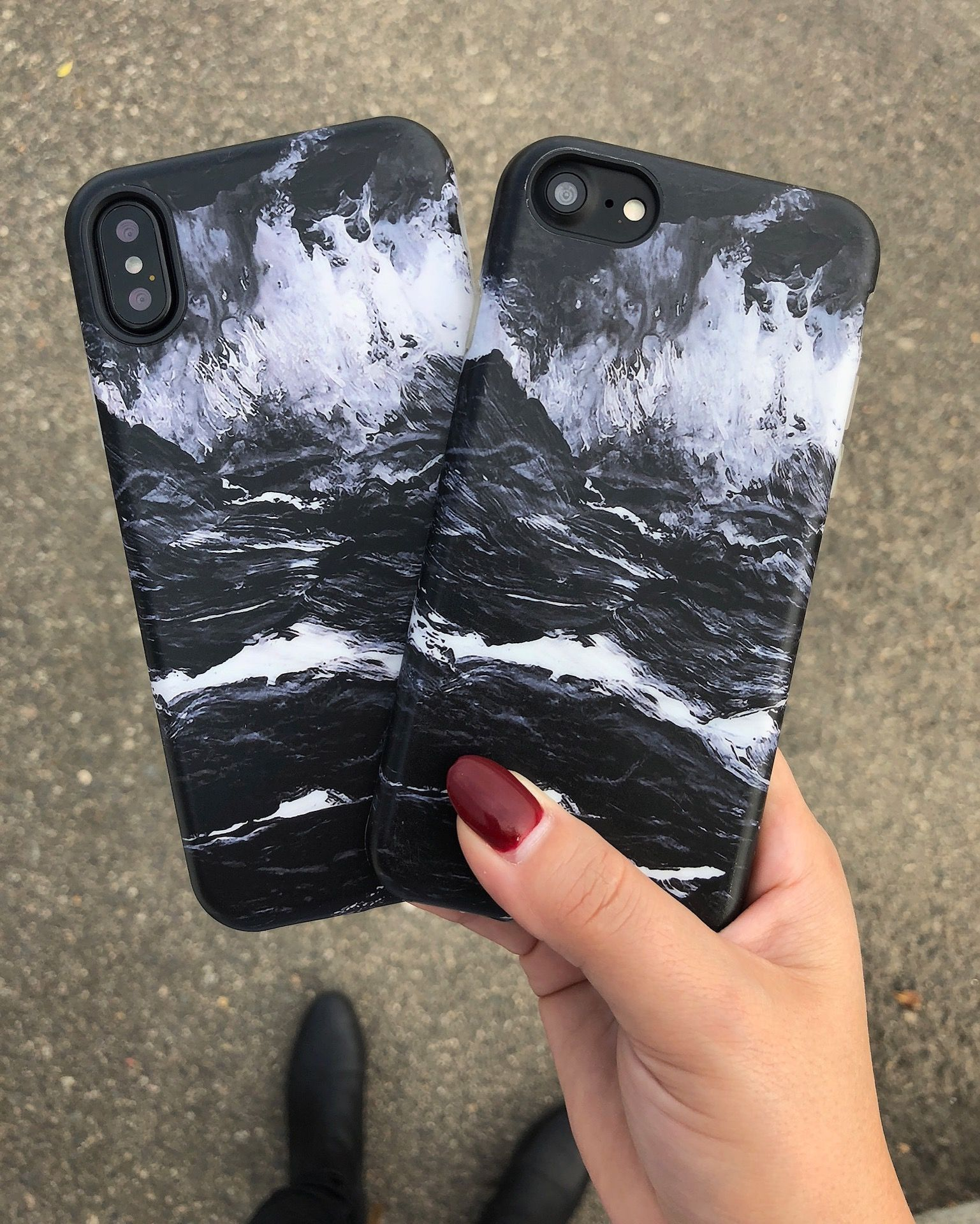 casing black marble