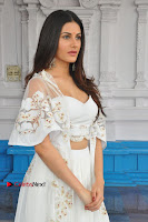 Telugu Actress Amyra Dastur Stills in White Skirt and Blouse at Anandi Indira Production LLP Production no 1 Opening  0114.JPG