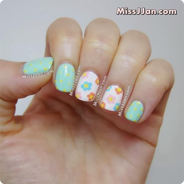 Another Flower Nail Tutorial: MissJJan's Beauty Blog ♥: Pastel Flowers Nail Art {Tutorial}