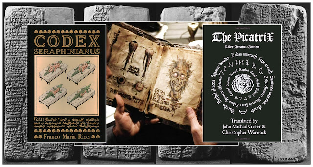 Ilustrações com alguns dos livros mais misteriosos e bizarros da história