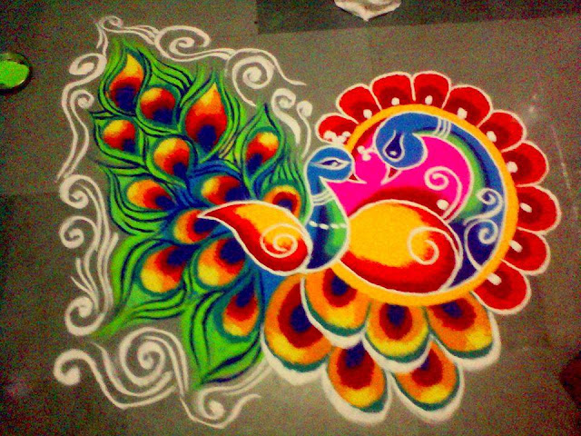 free hand rangoli designs with dots