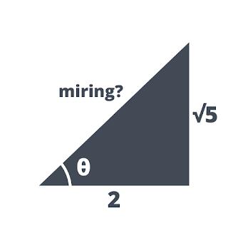 Diketahui tan θ = ½√5, hitunglah sin θ, cos θ, sec θ, cosec θ, dan cotan θ!