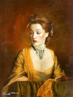 Retratos de epoca de figuras famosas de hollywood