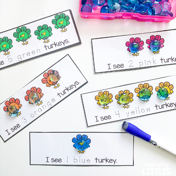 color and counting math centers