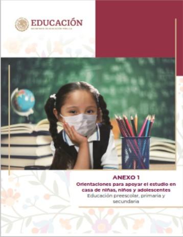 Anexo 1 Orientaciones para apoyar el estudio en casa de niñas, niños y adolescentes