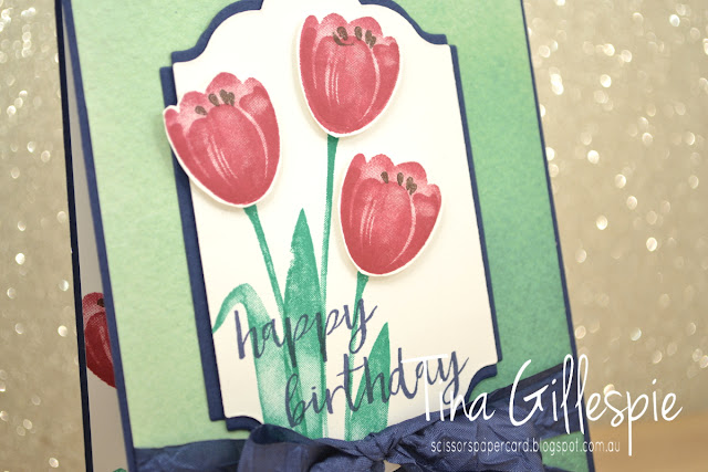 scissorspapercard, Stampin' Up!, Tranquil Tulips, Milestone Moments, Lots Of Labels Frameilts, Naturally Eclectic DSP