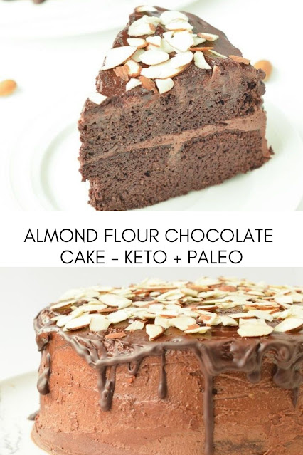 ALMOND FLOUR CHOCOLATE CAKE – KETO + PALEO