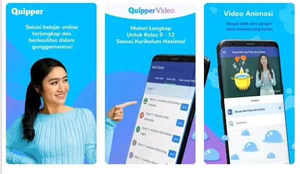 Quipper adalah aplikasi belajar online terbaik